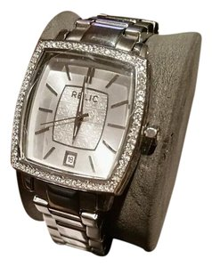 Relic NEW RELIC Montclare Stainless Steel Crystal Silver Tone Bling Watch