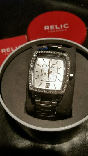 Relic NEW RELIC Montclare Stainless Steel Crystal Silver Tone Bling Watch Image 1