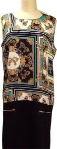 1 Madison short dress Black With Turquoise, Gold & White on Tradesy