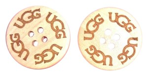 UGG Australia TWO (2) SAND UGG Replacement Buttons (30mm) for Adult Boots