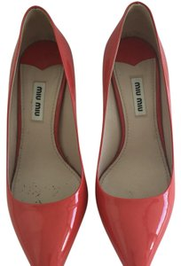 Miu Miu Red patent with glitter sole Pumps