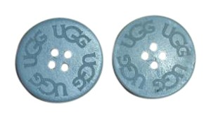 UGG Australia TWO (2) GREY UGG Replacement Buttons (30mm) for Adult Boots