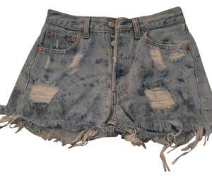 Levi's Cut Off Shorts Acid Wash