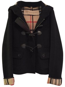 Burberry Brit Plaid Duffle Hooded Pea Coat
