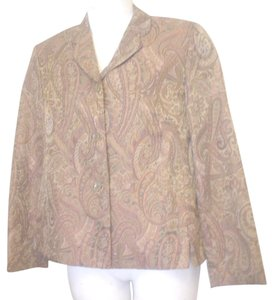 Garfield & Marks 3 Button Close Size L Lined Jacket Brown Copper Olive Blazer