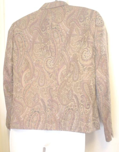 Garfield & Marks 3 Button Close Size L Lined Jacket Brown Copper Olive Blazer Image 1