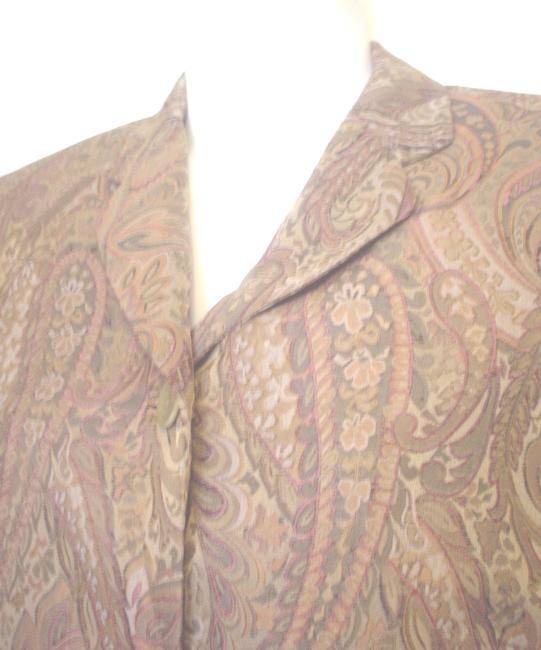 Garfield & Marks 3 Button Close Size L Lined Jacket Brown Copper Olive Blazer Image 2