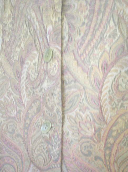 Garfield & Marks 3 Button Close Size L Lined Jacket Brown Copper Olive Blazer Image 3