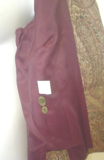 Garfield & Marks 3 Button Close Size L Lined Jacket Brown Copper Olive Blazer Image 6