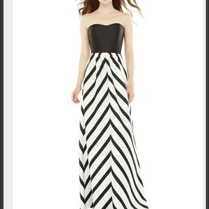 Alfred Sung Black And White Dress