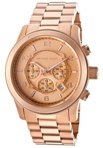 Michael Kors Michael Kors 'Large Runway' Rose Gold Plated Watch, 45mm
