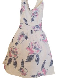 Tobi short dress White with floral on Tradesy