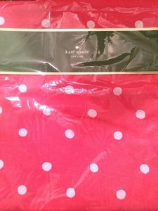 Kate Spade KATE SPADE CHARLOTTE TABLE RUNNER CORAL & WHITE POLKA DOTS 15