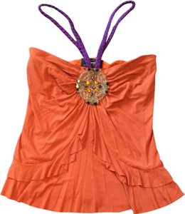 Millergirl by Nicole Miller Top Orange