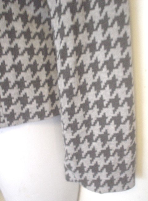 Yansi Fugel Houndstooth Lined Jacket Size 8 Black Gray Blazer Image 4