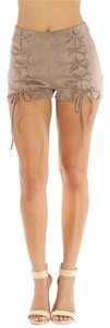 Luxxel Suede Short Shorts Brown