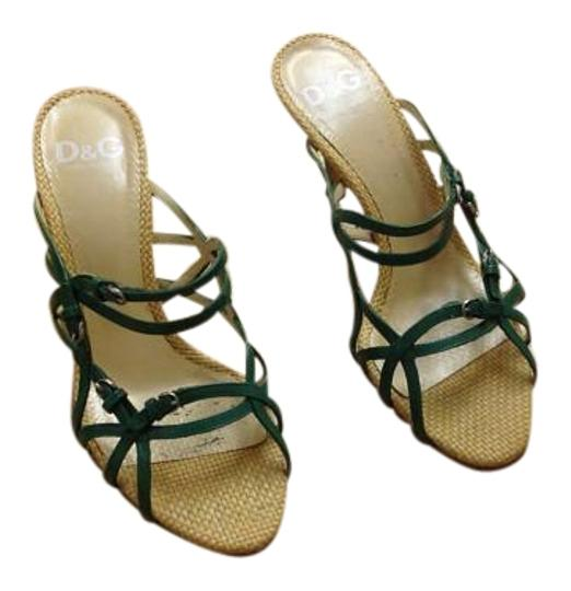 Preload https://img-static.tradesy.com/item/19699381/dolce-and-gabbana-green-d-and-g-dolce-and-gabbana-39-sandals-size-us-85-0-1-540-540.jpg