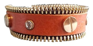 Other Leather bracelet with zipper detail