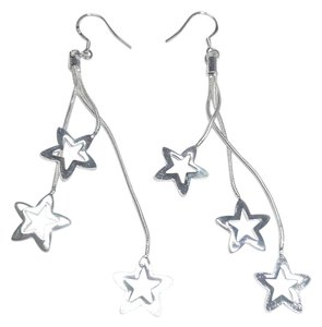 Other New Sterling Silver Filled Star Earrings Long J2969