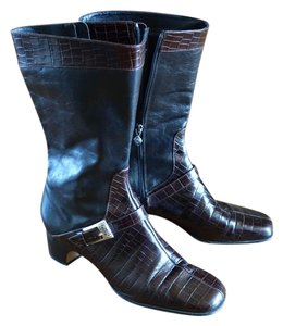 Brighton Leather black & brown Boots
