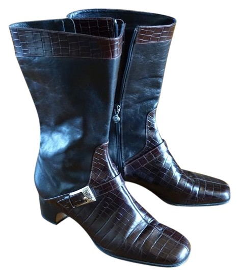 Preload https://img-static.tradesy.com/item/19699562/brighton-boot-leather-black-and-brown-boots-19699562-0-1-540-540.jpg
