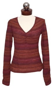 M Missoni Striped Gathered 44 Sweater