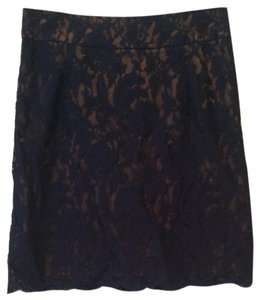 Criss Cross Mini Skirt Copper with navy blue overlay