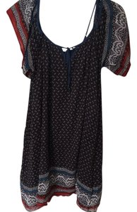 Free People short dress Grey, blue, red on Tradesy