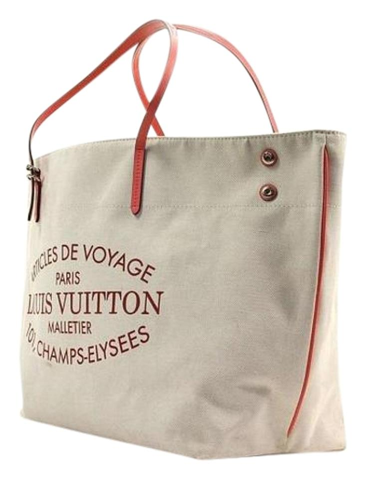 Louis Vuitton Neverfull Cabas Articles Limited Edition Tote In Pink