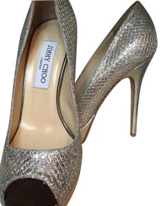 Jimmy Choo Gold and Silver Pumps