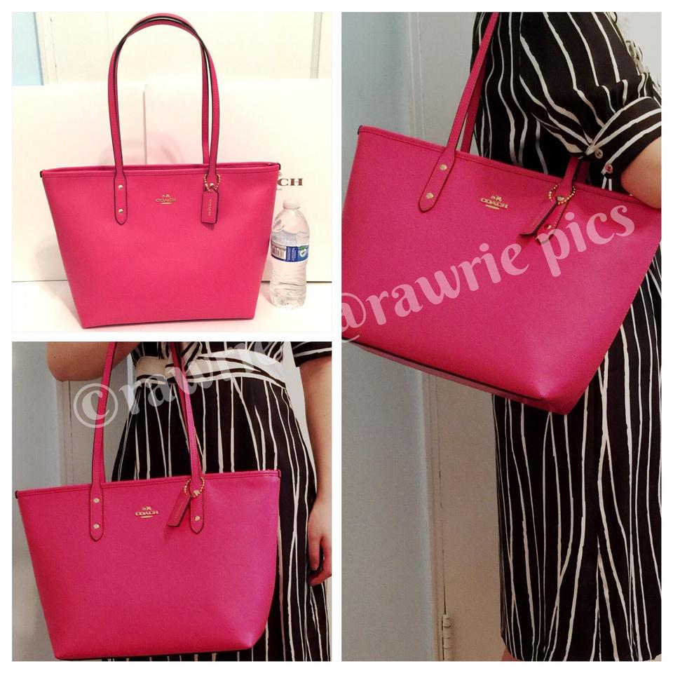 4ffc48436e where to buy coach city zip top pink leather tote tradesy 02acb 536d5