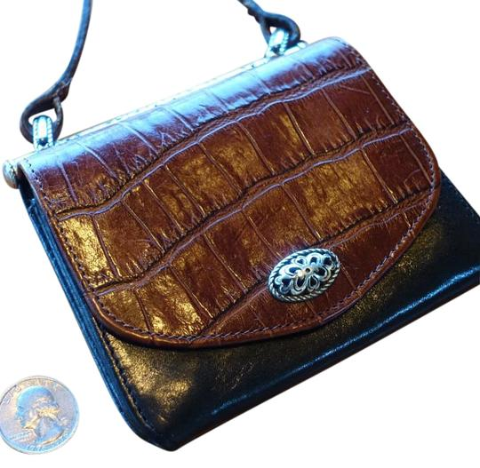 Brighton Leather Alligator Silver Hardware Cross Body Bag Image 0