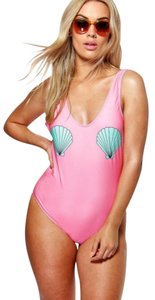 Other Boohoo Plus Keira Shell Swimsuit Pink US 14 MWT