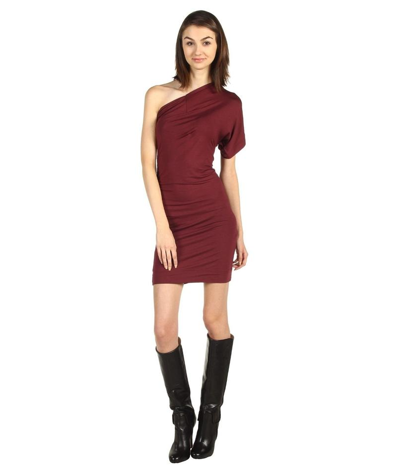 Vivienne Westwood Claret Jersey Anglomania Aster S Mde In Italy Above Knee Tail Dress Size 4 71 Off Retail