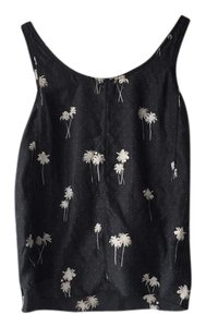 Rag & Bone Silk Print Black Top