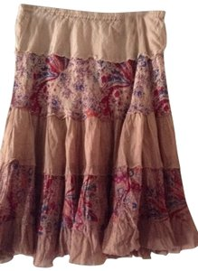 Derek Heart Peasant Style Skirt multi