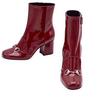 Gucci Red Leeather Size39 burgundy Boots