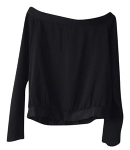 INTERMIX Off The Shoulder Long Sleeve Top Black