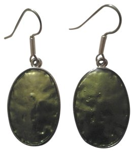 Handmade Buy3Get1FREE New HANDMADE GREEN Oval EARRINGS NWOT