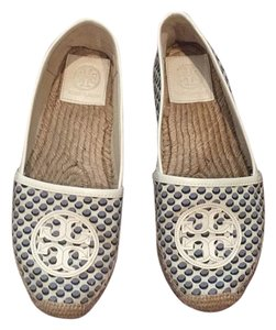 Tory Burch Navy/White Flats