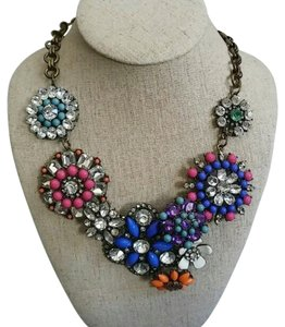 Other Floral Statement Bib Rhinestone Necklace