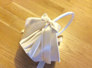 Beautiful Silk Flower Girl Basket. Never Used.