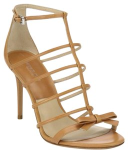 Michael Kors Blythe Bow Caged Tan Sandals