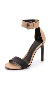 Tibi Stiletto Sandal Ankle Strap Black/Nude Sandals