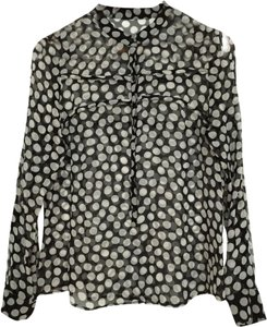 Anthropologie Top black white