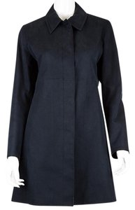 Coach Cotton Trench Coat Navy Jacket
