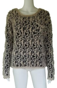 XOXO Leopard Fuzzy Eyelash Sweater