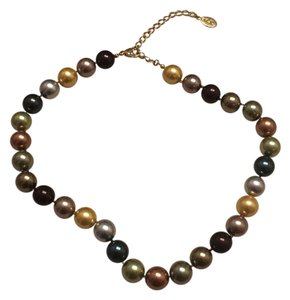 Kenneth Jay Lane KJL 14mm Inaugural Simulated Pearl Necklace