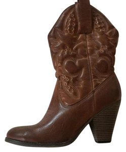 Girl MIA Cowboy Brown Boots