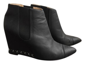 Chanel Ankle Goatskin Black Boots
